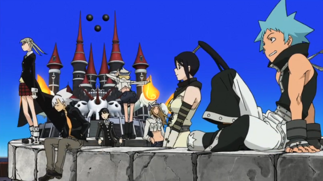 File:Soul Eater Episode 51 HD - Credits the main seven.png