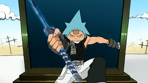 Episode 11 - Black Star uses Tsubakis Mode Uncanny Sword for the first time
