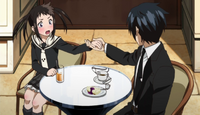 Soul Eater Not! Episode 4 - Akane (jokingly) asks Tsugumi to be his partner