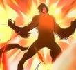 Scarlet fire monkey