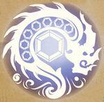 Blue Lightning Tyrant Dragon Clan Logo