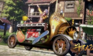 Oscar's sausage selling cart