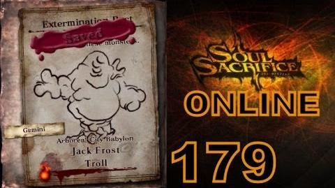 Let's Play Soul Sacrifice PS VITA - Part 179 - ONLINE - Hour Of Ash - Jack Frost Troll