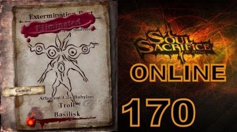 Let's Play Soul Sacrifice PS VITA - Part 170 - ONLINE - Hour Of Sappanwood - Basilisk Troll