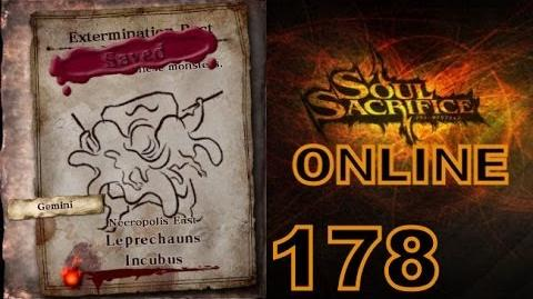 Let's Play Soul Sacrifice PS VITA - Part 178 - ONLINE - Hour Of Ash - Leprechauns Incubus