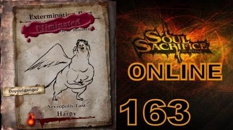 Let's Play Soul Sacrifice PS VITA - Part 163 - ONLINE - Hour Of Harlequin - Harpy