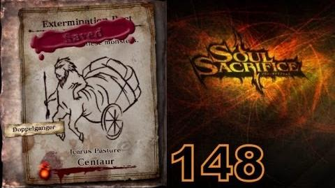 Let's Play Soul Sacrifice PS VITA - Part 148 - Forgotten Pacts - Hour Of Chartreuse - Centaur
