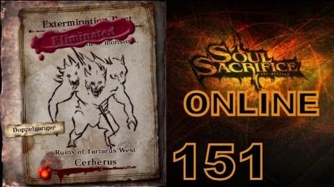 Let's Play Soul Sacrifice PS VITA - Part 151 - ONLINE - Hour Of Chartreuse - Cerberus