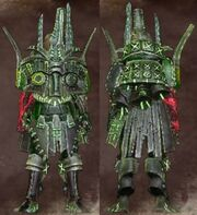 Green Male Warrior