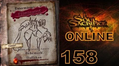Let's Play Soul Sacrifice PS VITA - Part 158 - ONLINE - Hour Of Amber - Behemoth Dullahan