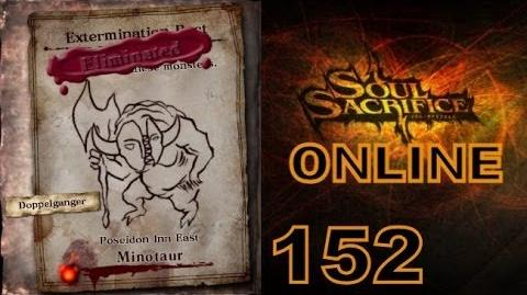 Let's Play Soul Sacrifice PS VITA - Part 152 - ONLINE - Hour Of Chartreuse - Minotaur