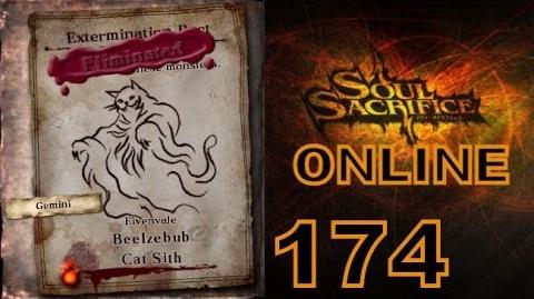 Let's Play Soul Sacrifice PS VITA - Part 174 - ONLINE - Hour Of Cypress - Cat Sith Beelzebub