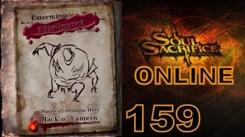 Let's Play Soul Sacrifice PS VITA - Part 159 - ONLINE - Hour Of Amber - Jack-O'-Lantern