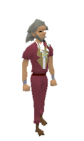Player wearing arcane stream necklace