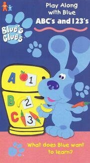 Blue's Clues ABC's and 123's VHS Cover