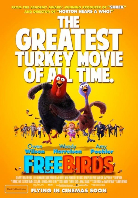 Free Birds (2013) BluRay 720p 580MB ( Hindi – English ) ESubs MKV