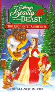 Beauty and the beast the enchanted christmas vhs cover