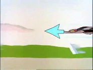 Guided Muscle Sound Ideas, CARTOON, AIRPLANE - LARGE SUPERSONIC PLANE LAND AND ENGINE WIND DOWN