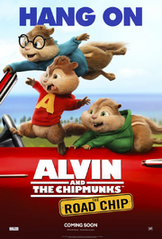 Alvin and the chipmunks the road chip poster