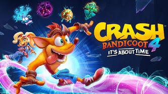 Crash Bandicoot 4 It's About Time Box Art