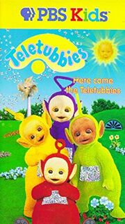 Teletubbies Here Come the Teletubbies VHS Cover