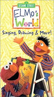 Elmo's World Singing Drawing and More VHS Cover