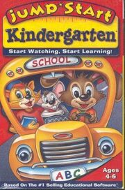 JumpStart Kindergarten Why Did the Bus Stop VHS Cover
