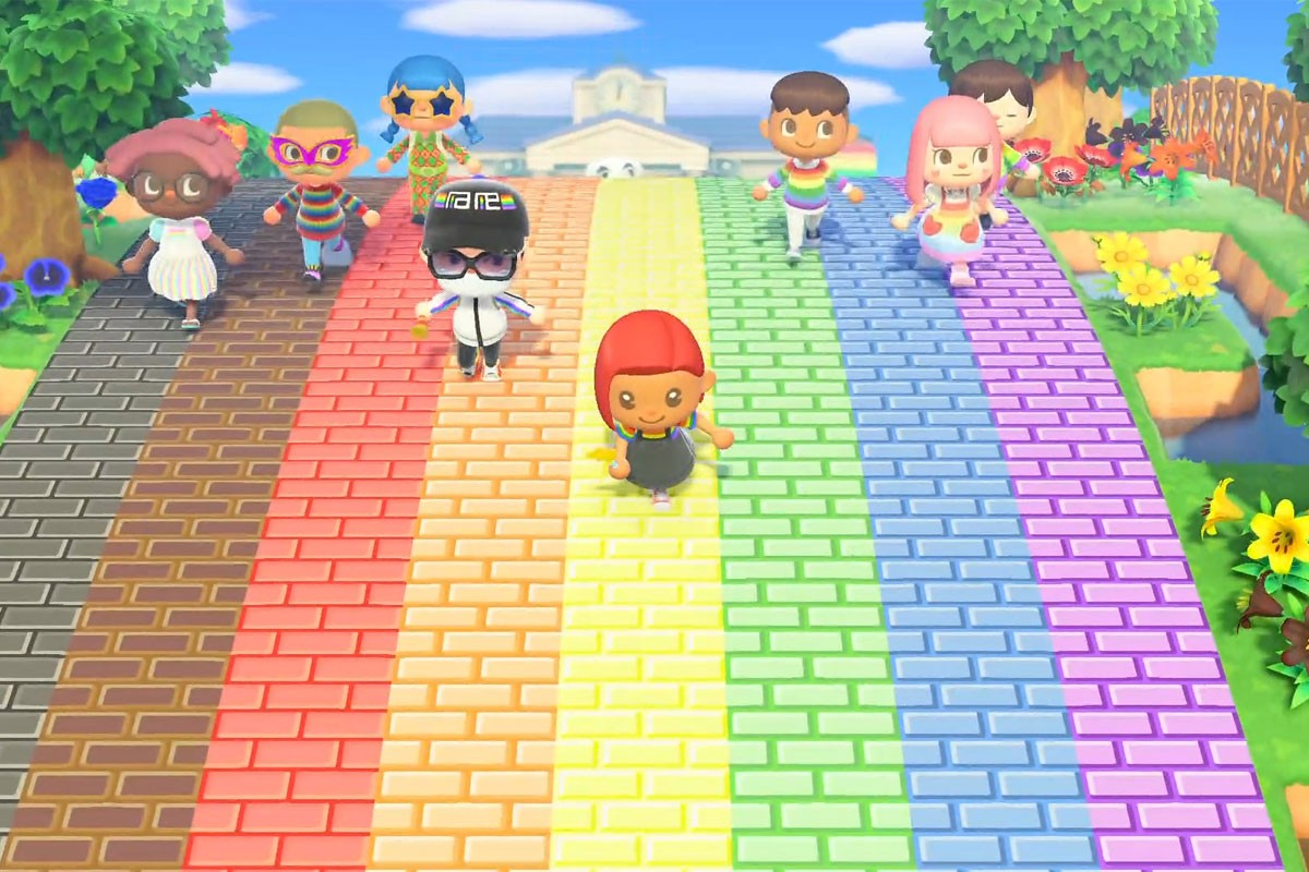Animal Crossing New Horizons Globe Pride Crossing