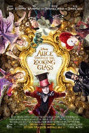 Alice through the looking glass poster 2016