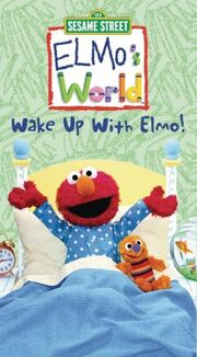 Elmo's World Wake Up With Elmo VHS Cover