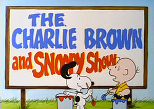 Charlie brown & snoopy show title