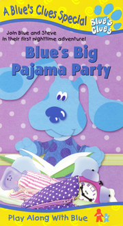 Blue's Clues Blue's Big Pajama Party VHS Cover
