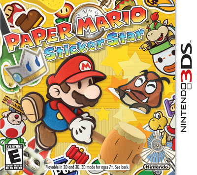 Paper Mario - Sticker Star Box Art