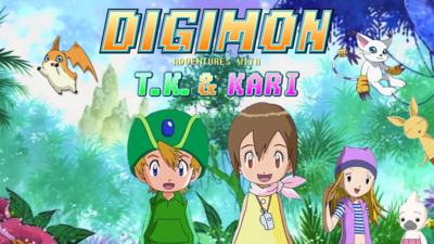 Digimon Adventures With TK and Kari Poster