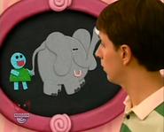 Blue's News Sound Ideas, ELEPHANT - ELEPHANT TRUMPETING, THREE TIMES, ANIMAL