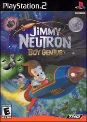 Jimmy Neutron Boy Genius Video Game Box Art