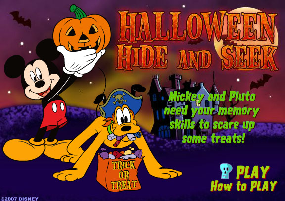 Mickey And Friends Halloween Hide And Seek Online Games