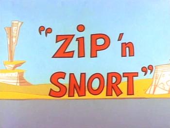 Zip 'n Snort Title Card