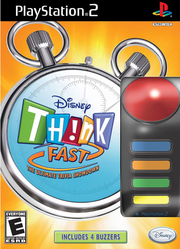 Disney think fast ps2 box art