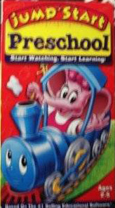 JumpStart Preschool Who Left the Juice in the Caboose VHS Cover