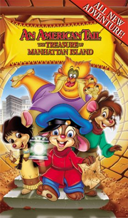 An american tail the treasure of manhattan island vhs cover