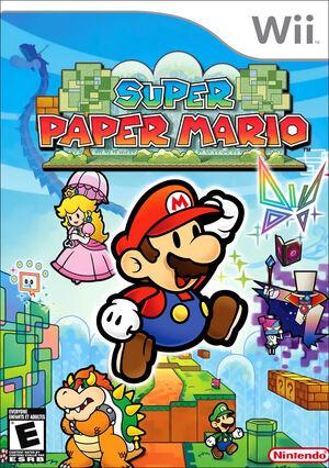 Super Paper Mario Box Art