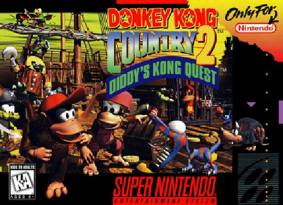 Donkey Kong Country 2 Super Nintendo Box Art