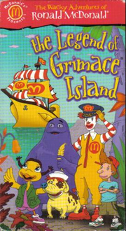 The Legend of Grimace Island VHS Cover