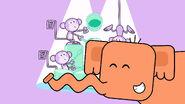 ELEPHANT - ELEPHANT TRUMPETING, THREE TIMES, ANIMAL, Wow! Wow! Wubbzy!