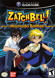 Zatch Bell Mamodo Battles Gamecube Box Art