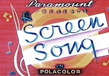 Screen songs title card