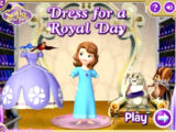 Sofia the First: Dress for a Royal Day (Online Games)