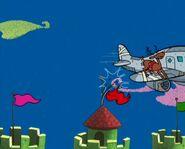 Plane Passing By Santa's Workshop