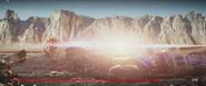 Last Jedi SKYWALKER, EXPLOSION - NEARBY HEAVY EXPLOSION